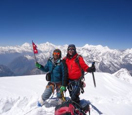 Larkya Trekking Peak in Nepal