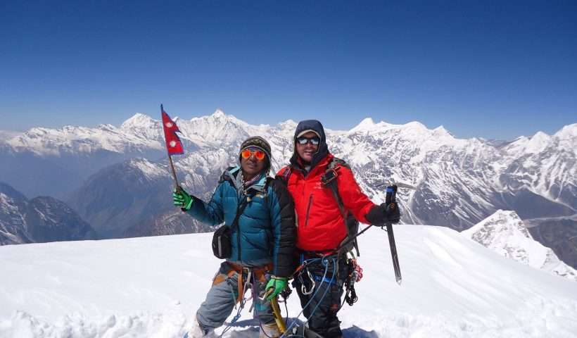 Larkya Trekking Peak in Nepal