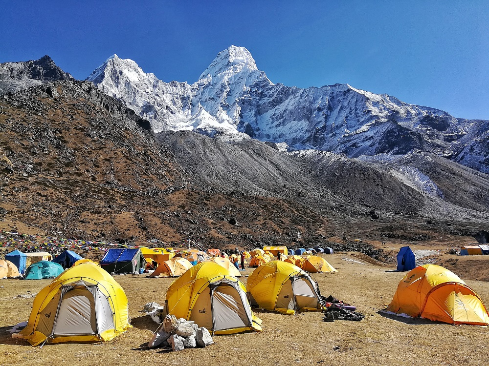 Trekking, hiking and mountaineering in mt.Ama Dablam