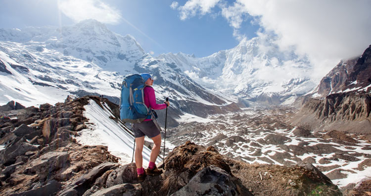 The walk up to the Annapurna Base Camp is a classic trip right into the heart of the mountains.