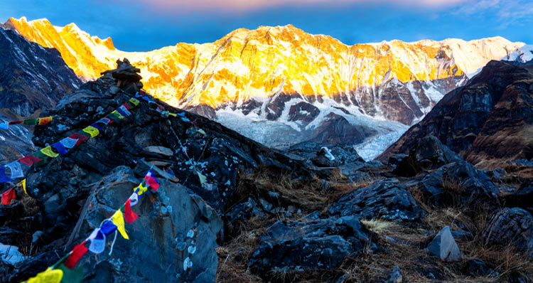 A trek to the Annapurna Base Camp can be taken at any time of the year
